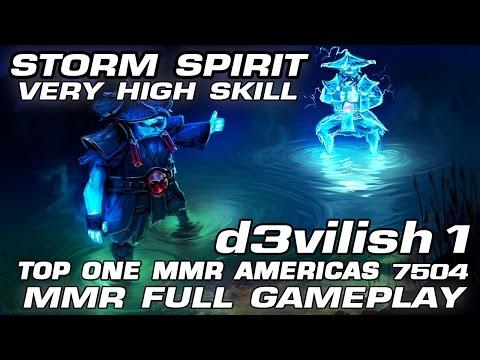 d3vilish1 [ Top 1 MMR Americas ] - Guide Storm Spirit | Very High Skill ~ MMR Full Gameplay