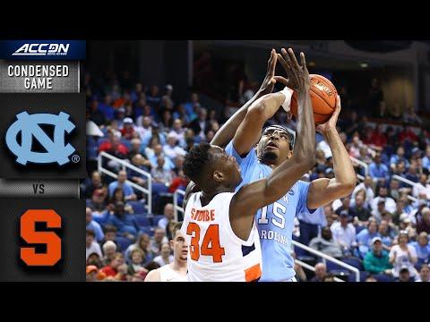 North Carolina Vs SyracuseCondensed Game | 2019-20 ACC Men's Basketball