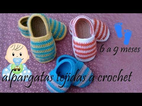 Bebe A Para Tejidas Crochet Youtube Alpargatas BdoeCxr