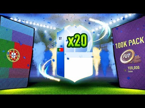 6 TEAM OF THE TOURNAMENT PLAYERS PACKED!!! 🔵 20 x 100K PACKS | FIFA 18 Ultimate Team