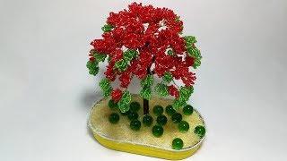 Дерево из бисера. Красная Акация. 1 часть. Соцветие и сборка. Пошаговый МК для начинающих