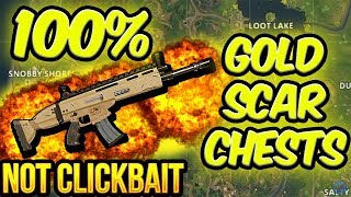 100% GOLD SCAR CHEST GLITCH WORKING - FORTNITE GLITCH 2018 BEST LOOT SPOTS