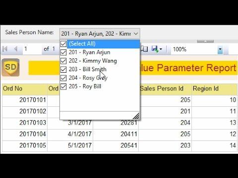 SSRS - Multivalue Parameter Report