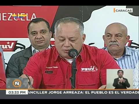Diosdado Cabello en rueda de prensa del PSUV, 28 mayo 2018
