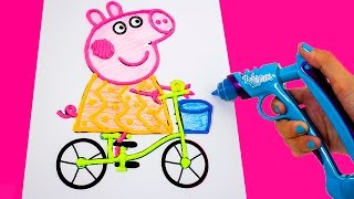Peppa Pig Play-Doh DohVinci Art Studio Design Peppa Pig with Play Doh Vinci Dibujar con Plastilina(http://www.youtube.com/user/unboxingsurpriseegg?sub_confirmation=1 Join Unboxingsurpriseegg on an adventure of fun and discovery with Kinder Surprise ..., 2015-08-12T16:09:13.000Z)