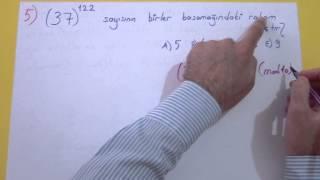 Modüler Aritmetik Soru Çözümü Şenol Hoca Matematik