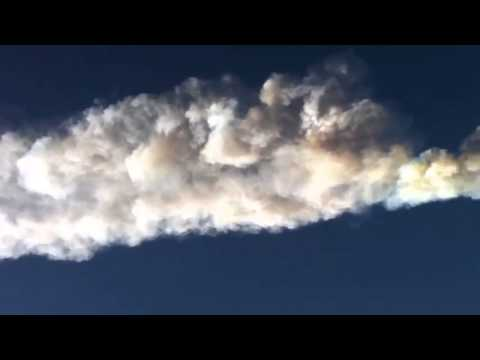Loud Russian Meteor Sonic Booms & Plumes 2013 compilation Part 2