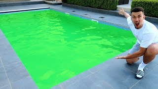 FILLING OUR NEW SWIMMING POOL WITH SLIME?