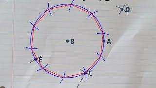 Constructing a regular decagon inside a circle