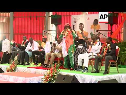 Heroes' welcome for Ivory Coast Olympic winners