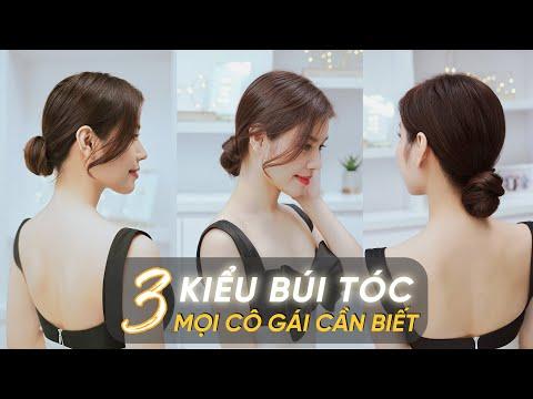 3 Kiểu búi tóc mọi cô gái cần biết | Búi tóc đơn giản tại nhà | Đẹp cùng Tiffany