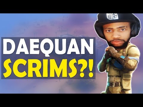 DAEQUAN SCRIMS!? | MY VIEWERS ARE INSANE | HIGH KILL FUNNY GAME - (Fortnite Battle Royale)