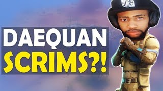 DAEQUAN SCRIMS!?   MY VIEWERS ARE INSANE   HIGH KILL FUNNY GAME - (Fortnite Battle Royale)