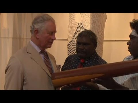 Prince Charles visited an indigenous art center in Australia's Northern Territory