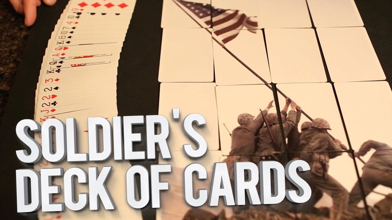 soldiers deck of cards youtube