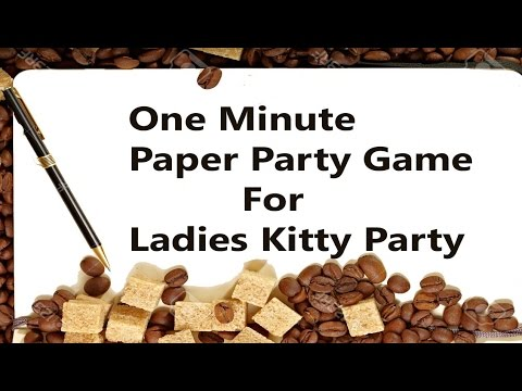 One Minute Paper Party Game Ladies Kitty Party