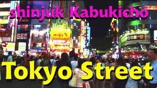 Walking the streets of Tokyo Shinjuku Kabukicho 1080p