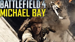 Battlefield 4 Campaign: All Michael Bay Scenes - PC (Max Settings)