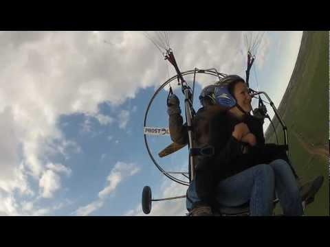 Тандемный полет на параплане с мотором