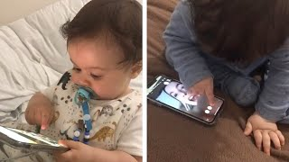Toddler Hangs Up Phone Call From His Aunty