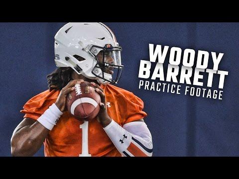 Watch QB Woody Barrett run drills during Auburn Spring Practice