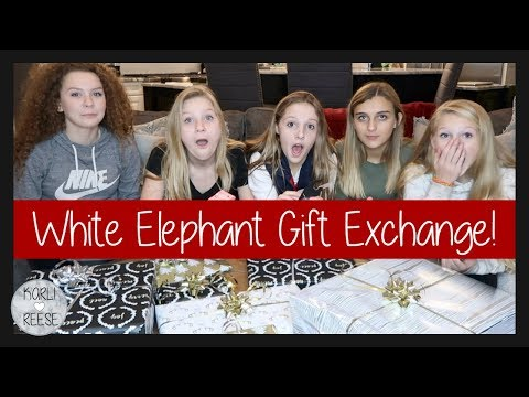 WHITE ELEPHANT GIFT EXCHANGE GAME!