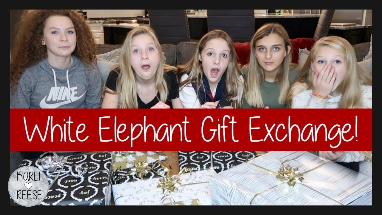 WHITE ELEPHANT GIFT EXCHANGE GAME! - YouTube