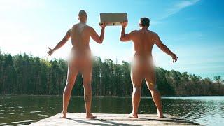 2 gars nus avec un parpaing (on doit retourner à Paris en 24h avec vos contraintes)