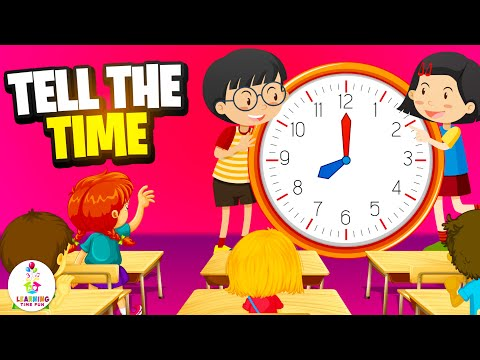 Tell Time For Kids | How To Tell Time To The Hour | Telling The Time | Telling Time | Time For Kids