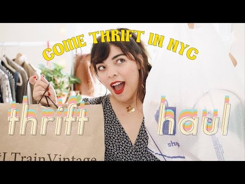 🍒 NYC THRIFT HAUL: Goodwill & L Train Vintage (Vlog #2)