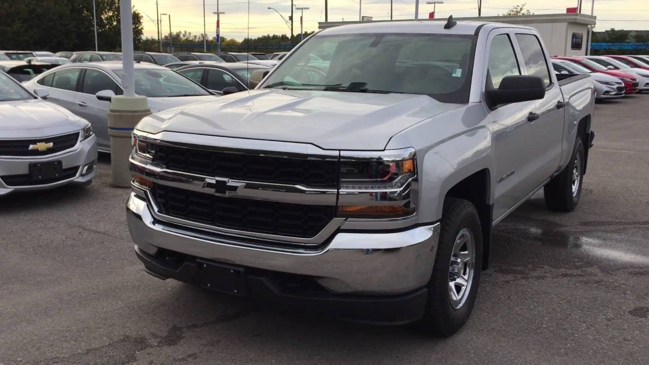 2017 chevrolet silverado 1500 4wd crew cab ls silver ice metallic roy nichols motors courtice on. Black Bedroom Furniture Sets. Home Design Ideas