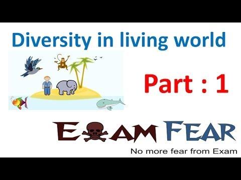 Biology Diversity in Living World part 1 (Introduction) CBSE class 11 XI