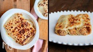 CANELONES TRUFADOS PARA NAVIDAD | Canelones de carne con bechamel trufada