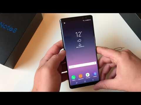 Samsung Galaxy Note 8 einrichten und zweiter Eindruck