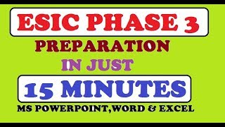 ESIC PHASE 3 PREPARATION IN JUST 15 MINUTES || KINGDOM OF DREAMS