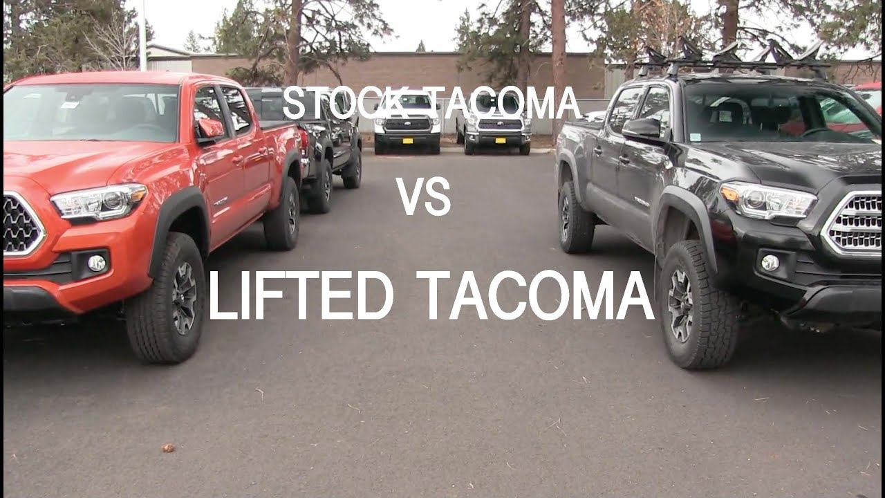 Stock Amp Lifted Tacoma S Side By Side Youtube