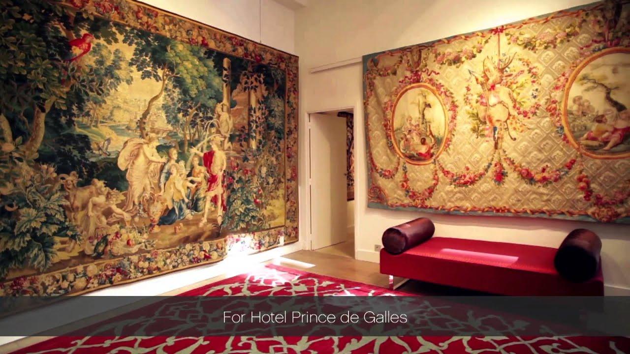 the restoration of a maison de luxe prince de galles hotel in paris youtube. Black Bedroom Furniture Sets. Home Design Ideas