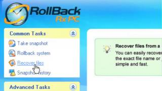 RollBack Rx - How to recover data from a snapshot.