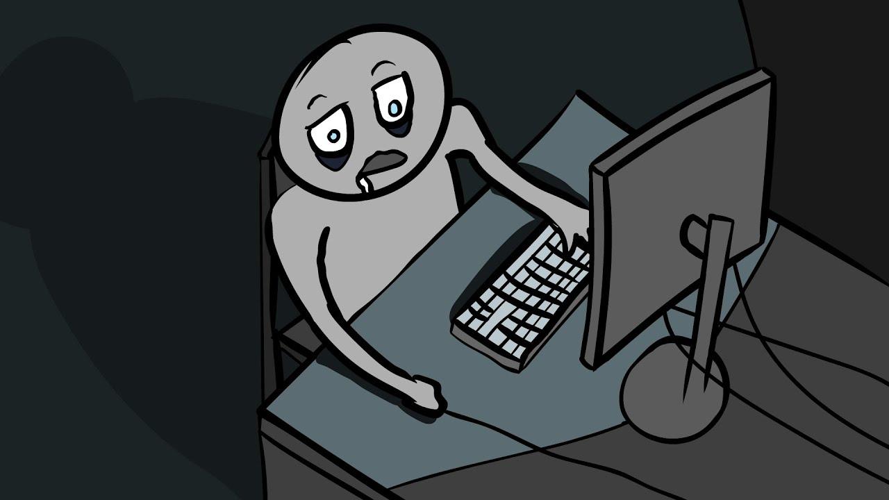Анимация про интернет зависимость