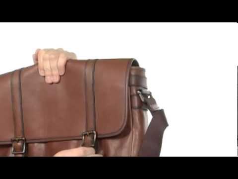 Fossil Estate Leather Messenger Bag Sku 8064425