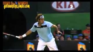 Видео урок Федерер удар справа замедление теннис