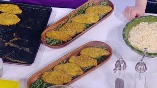 ديما حجاوي تحضر اسكالوب الدجاج بطحين الذرة