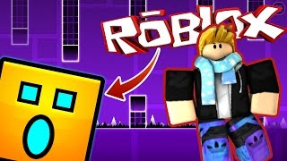DIMENSION OF GEOMETRY DASH IN ROBLOX IN ENGLISH with Manucraft, ElTrollino and TinenQa