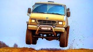FORD f150 van 4x4 f350 offroad Jump crazy car