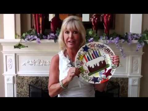 Happy birthday cake plate