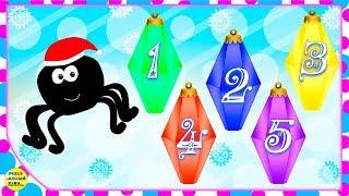 Паучок и ёлка! Новогодний мультфильм. Развивающий мультик для детей