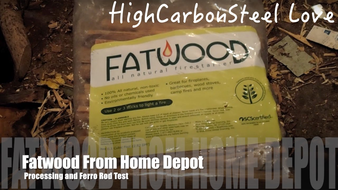 Fatwood From Home Depot Processing And Ferro Rod Test