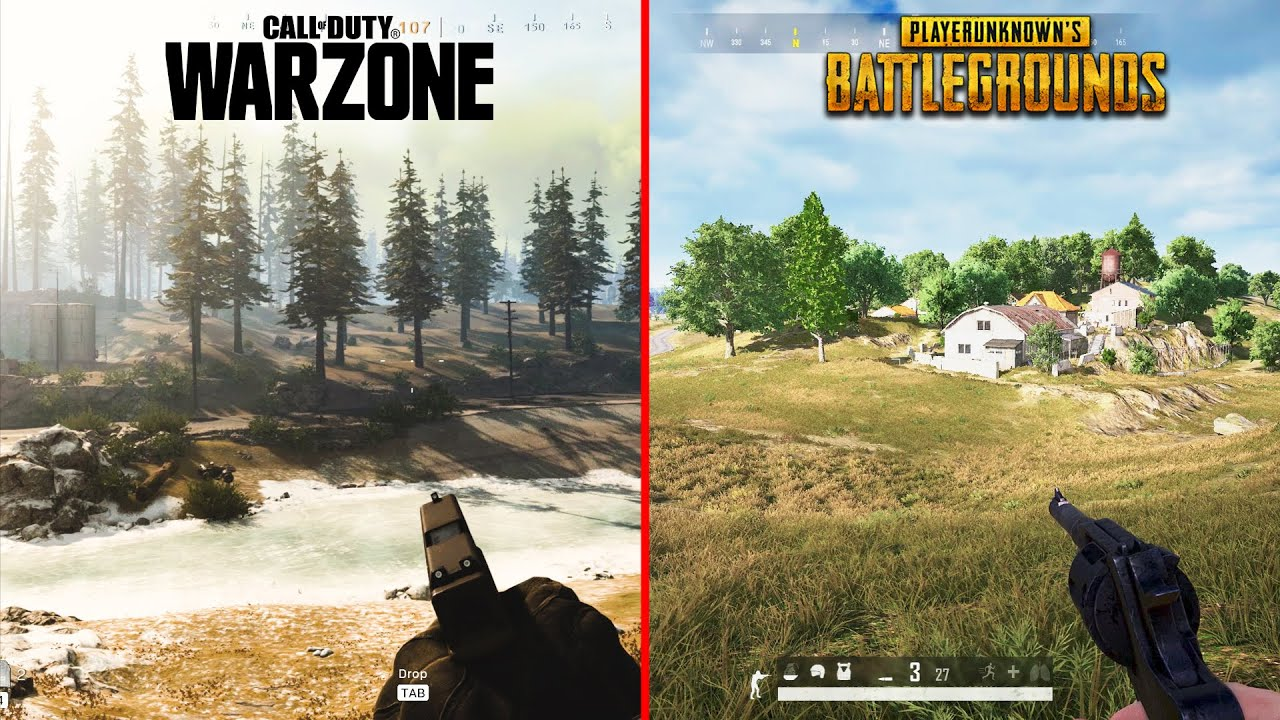 Call Of Duty Warzone Vs Pubg Attention To Detail Graphics