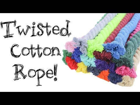Product Spotlight Twisted Cotton Rope Paracord Planet