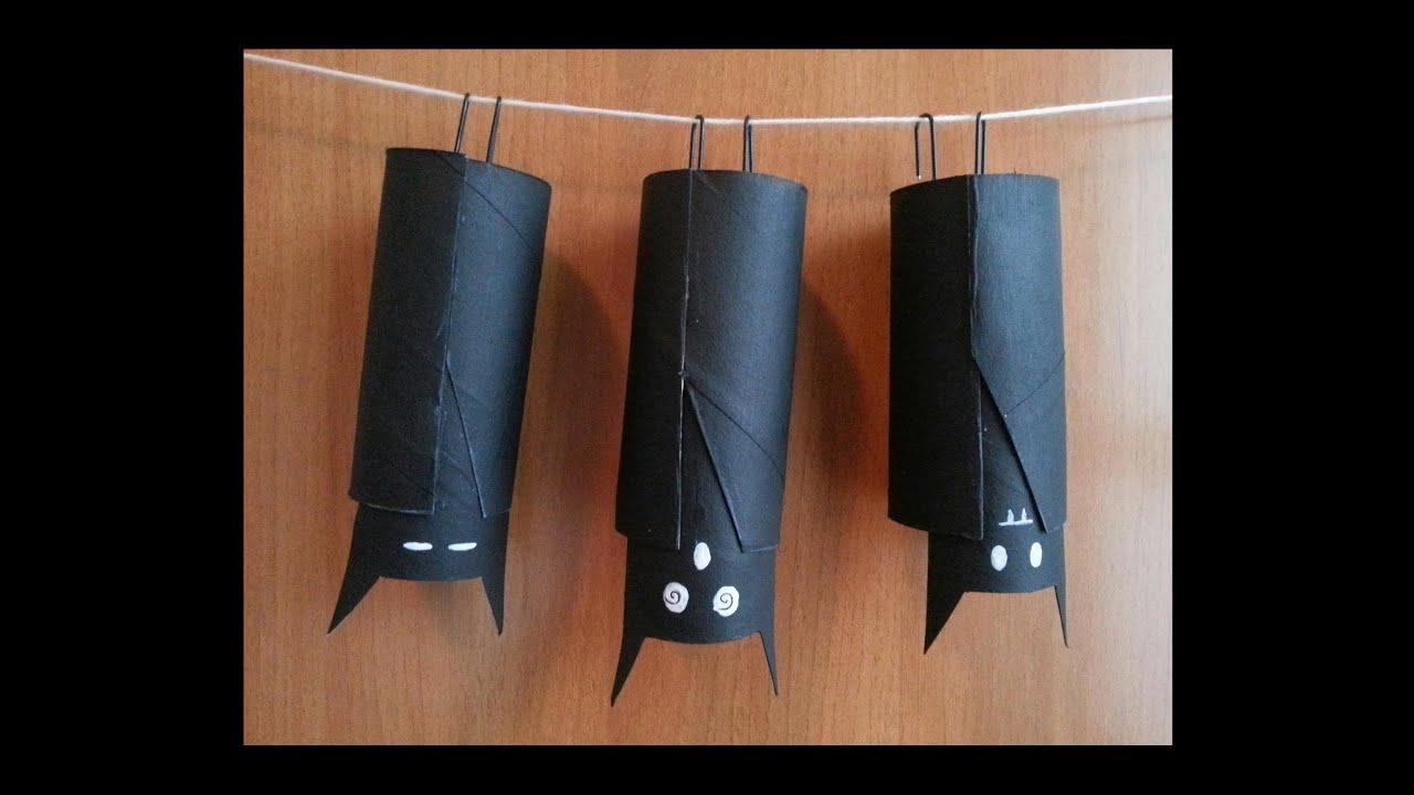 Tutorial Pipistrelli Con Rotoli Di Carta Igienica Per Halloween